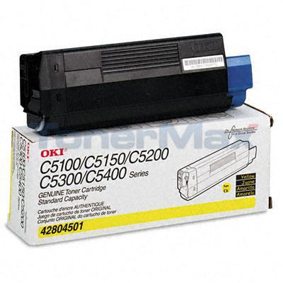 OKIDATA C5100N C5300N TONER YELLOW 3K